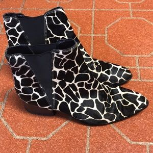 Giraffe Print Pony Hair Urban Outfitters Boots